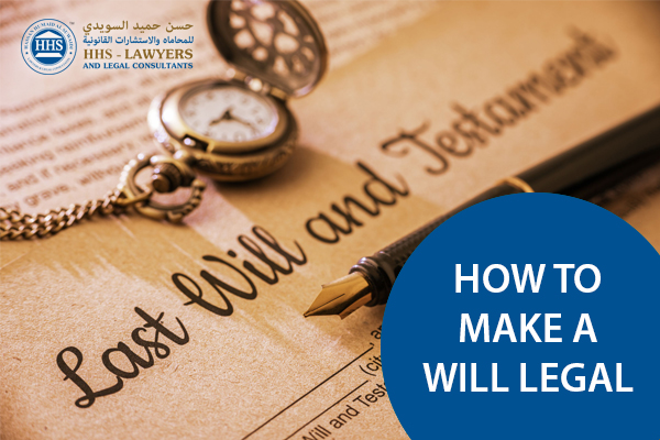 how to make a will legal