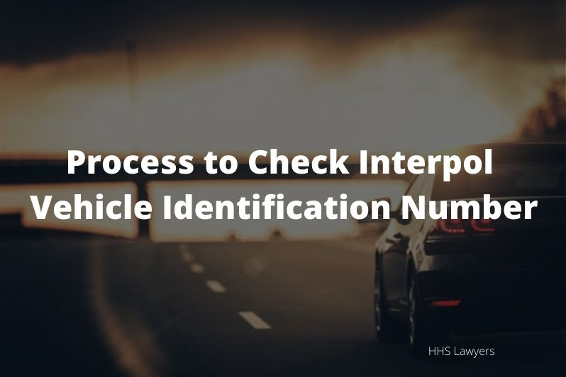Check Interpol Vehicle Identification Number